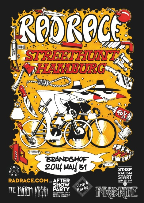 Offizielles Event Plakat des Rad Race Streethunt in Hamburg City Baby (Foto: Rad Race)